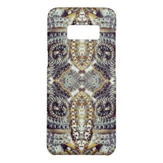 Kaleidoscopic grey Gold Medallion steampunk gears Case-Mate Samsung Galaxy S8 Case