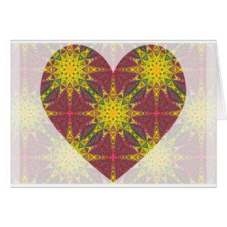 Kaleidoscopic Heart Card.2 Card