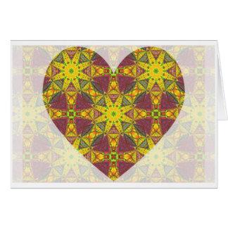 Kaleidoscopic Heart Greeting Card.5 Card