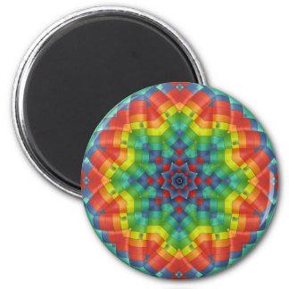 Kaleidoscopic Hot Air Balloon 4 Magnet