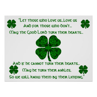 Kaleidoscopic Irish Blessing 4 Poster