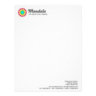 Kaleidoscopic Mandala 016 Letterhead