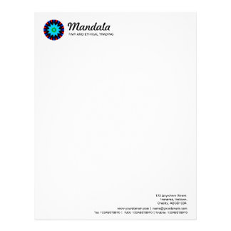 Kaleidoscopic Mandala 018 Letterhead