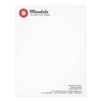 Kaleidoscopic Mandala 023 Letterhead