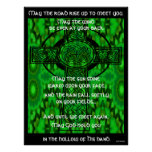 Kaleidoscopic Mandala - Irish Blessing 3 Print