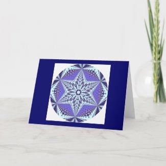 Kaleidoscopic Mandala Snowflake 1 card