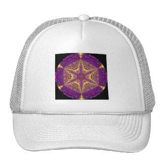 Kaleidoscopic Mandala Starburst Design.2 Mesh Hats