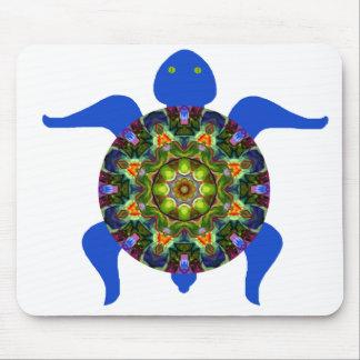 Kaleidoscopic Mandala Turtle Design.8 Mouse Pad
