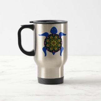 Kaleidoscopic Mandala Turtle Design.8 Travel Mug
