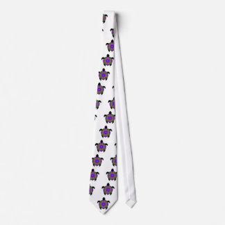 Kaleidoscopic Mandala Turtle Design Neck Tie