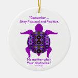 Kaleidoscopic Mandala Turtle Ornament.6