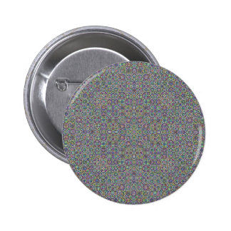 Kaleidoscopic pattern pinback buttons