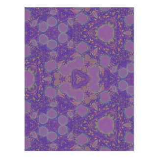 Kaleidoscopic Psychedelic Marbled Paper Art Design Postcard