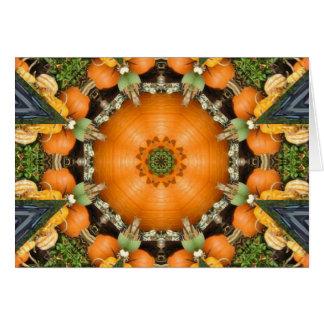 Kaleidoscopic Pumpkin Patch Card