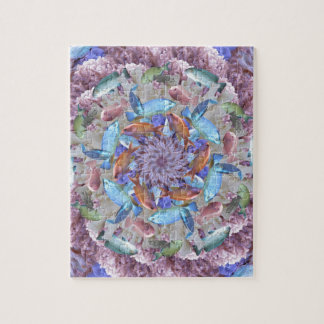 Kaleidoscopic Seascape in Bright Pastels Jigsaw Puzzle