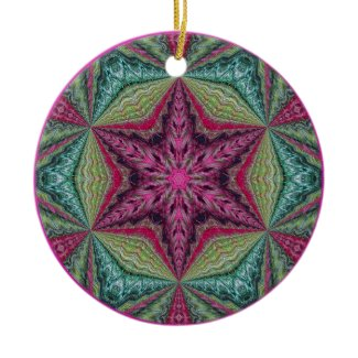 Kaleidoscopic Snowflake Ornament.1 ornament