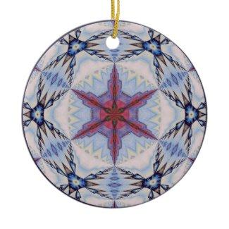 Kaleidoscopic Snowflake Ornament.5 ornament