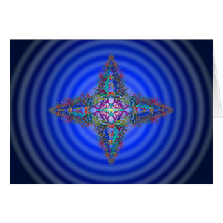 Kaleidoscopic Star on Cosmic Background Radiation Card