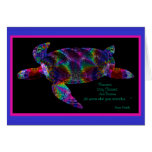 Kaleidoscopic Turtle with Quote Card 4