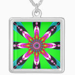 Kaleidozone - Fractal Silver Plated Necklace