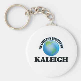 Kaleigh más caliente del mundo llaveros personalizados