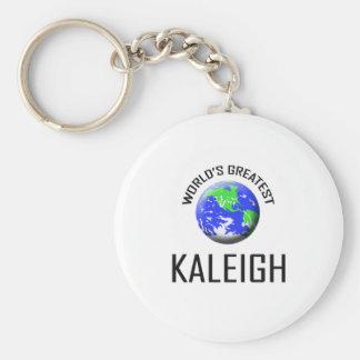Kaleigh más grande del mundo llavero personalizado