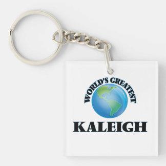 Kaleigh más grande del mundo llavero cuadrado acrílico a una cara