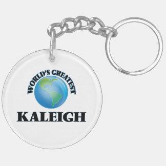 Kaleigh más grande del mundo llavero redondo acrílico a doble cara