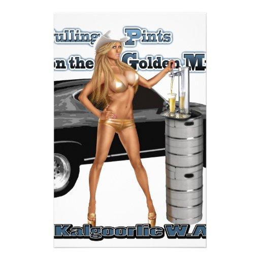 KALGOORLIE GOLD BIKINI MAID ON THE GOLDEN MILE STATIONERY PAPER