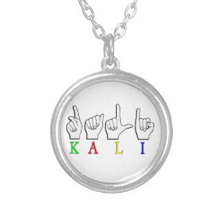 KALI  ASL FINGERSPELLED ROUND PENDANT NECKLACE