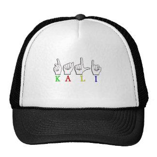 KALI  ASL FINGERSPELLED TRUCKER HAT