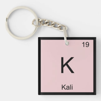 Kali  Name Chemistry Element Periodic Table Keychain