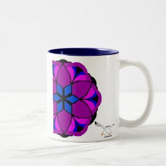 Kaliedescope Two-Tone Coffee Mug