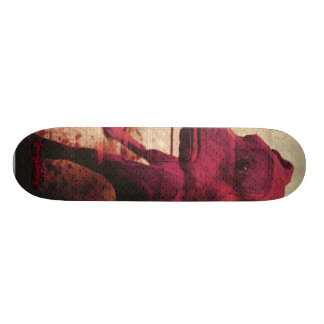 kalifour red skate board deck