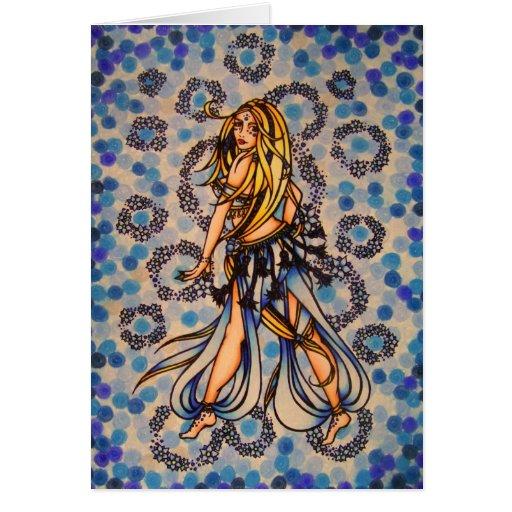 Kalila Belly Dancer Greeting Card