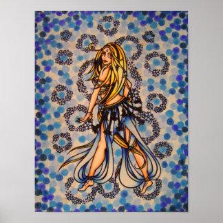 Kalila Belly Dancer Poster