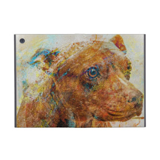 kalimagic Pitbull RIP doggy dog portrait Case For iPad Mini
