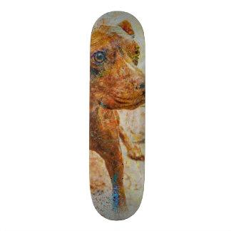 kalimagic Pitbull RIP doggy dog portrait Custom Skate Board