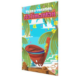 Kalimantan holiday travel poster. canvas print