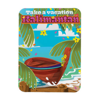 Kalimantan holiday travel poster. magnet