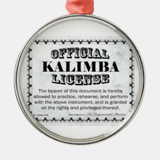 Kalimba License Metal Ornament