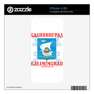 Kaliningrad city Coat of Arms Skin For iPhone 4