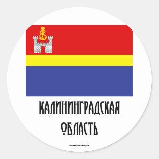 Kaliningrad Oblast Flag Classic Round Sticker