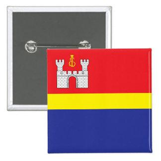 Kaliningrado Oblast, bandera de Rusia Pin Cuadrado