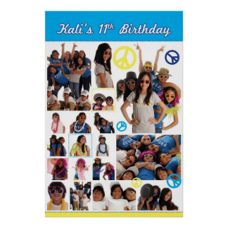 Kali's 11th Birthday Poster