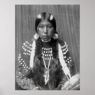 Kalispel Indian Portrait, 1910 Poster
