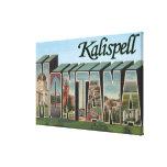 Kalispell, Montana - escenas grandes de la letra Impresión En Lienzo