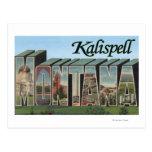 Kalispell, Montana - escenas grandes de la letra Tarjetas Postales