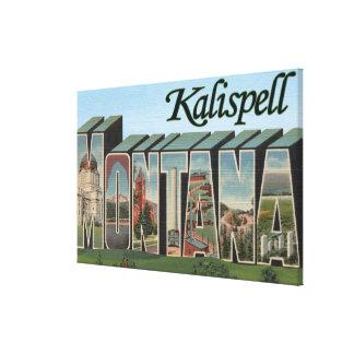 Kalispell, Montana - Large Letter Scenes Canvas Print