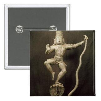 Kaliya Krishna 2 Inch Square Button